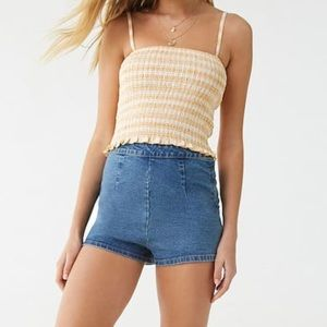 NWT Forever 21 Smocked Cropped Cami